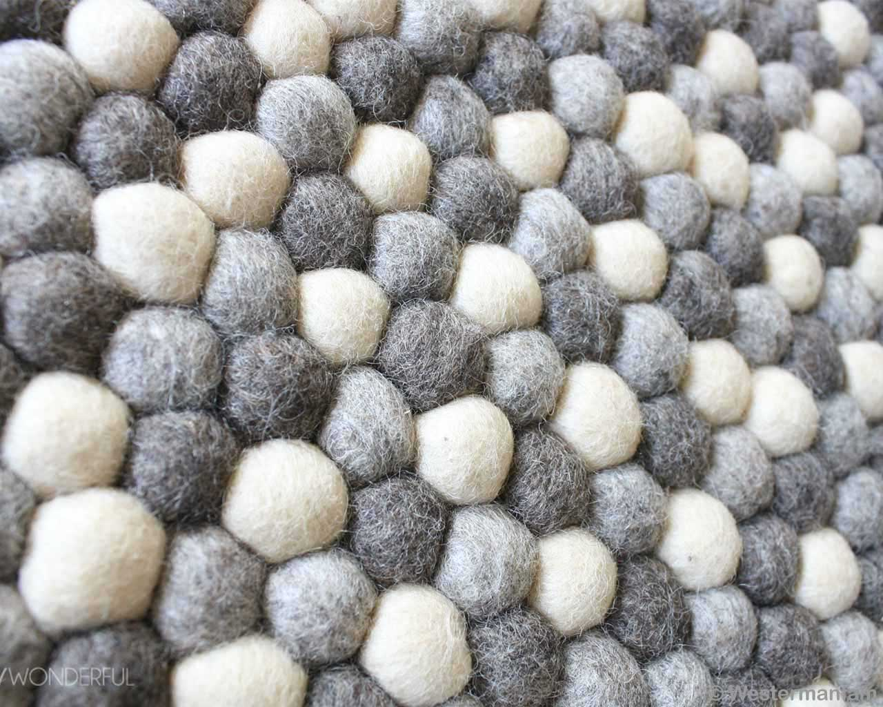 nepal contemporary gray and white pattern felt ball rugs usa