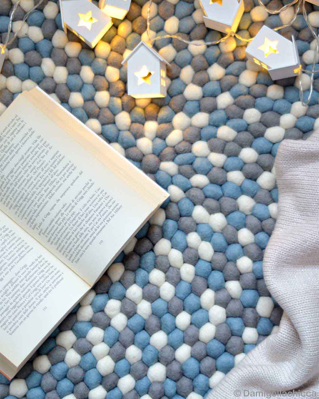 woolen open book and lights nepal contemporary colorful rugs
