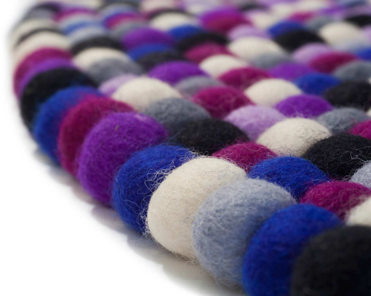 fabric wool felted purple white black