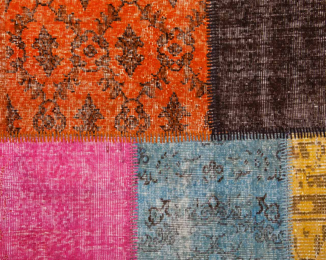 multi colour turkish patchwork carpet